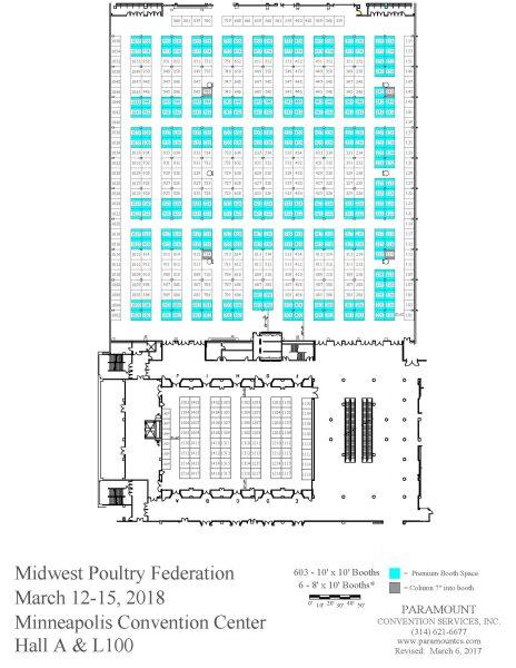 2018 MPF Convention Exhibit Hall Floor Plan