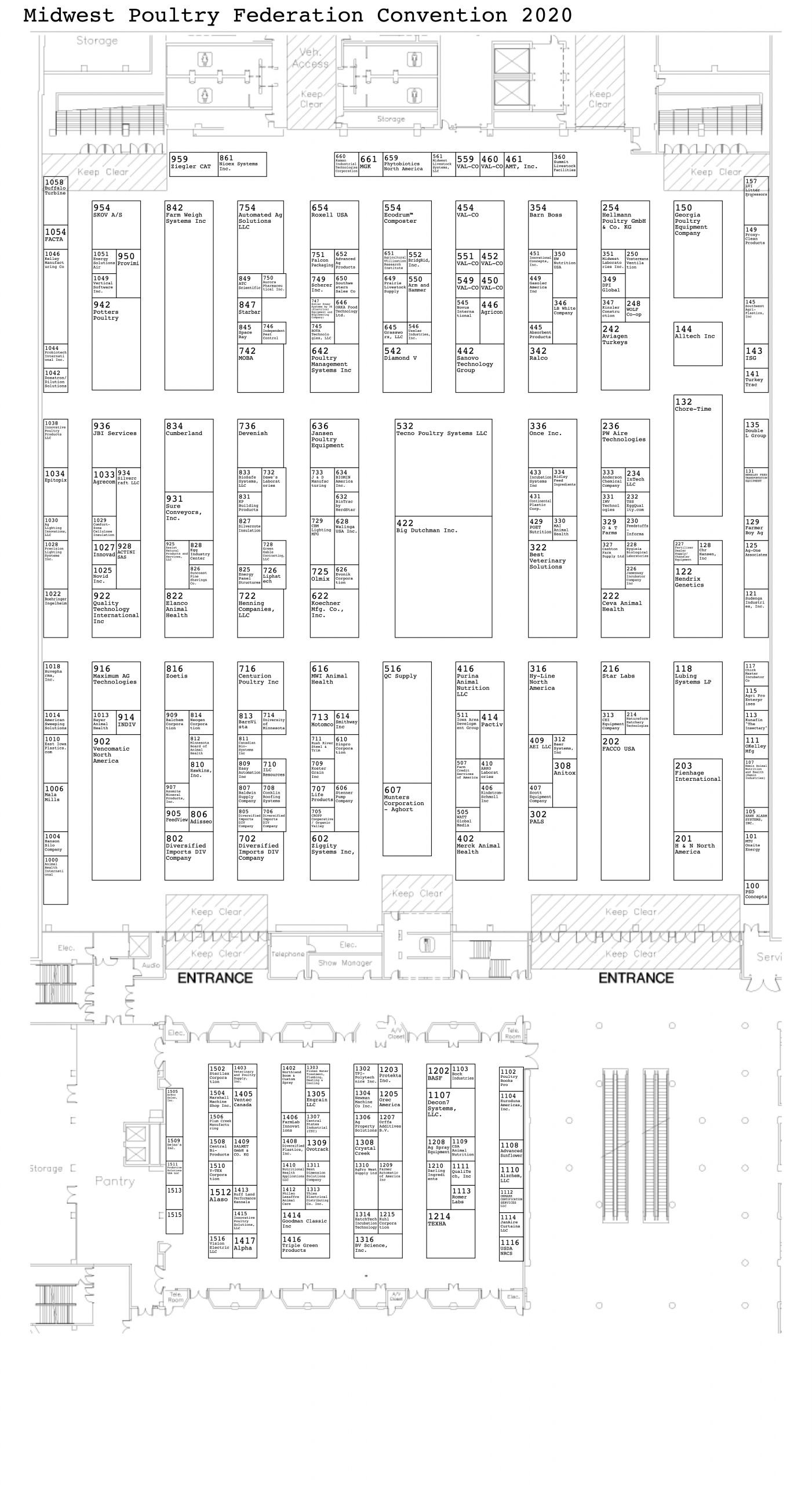 2020 MPF Convention Exhibit Floor Plan