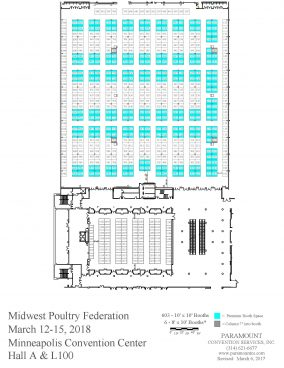 2018 MPF Convention Exhibit Hall Floor Plan